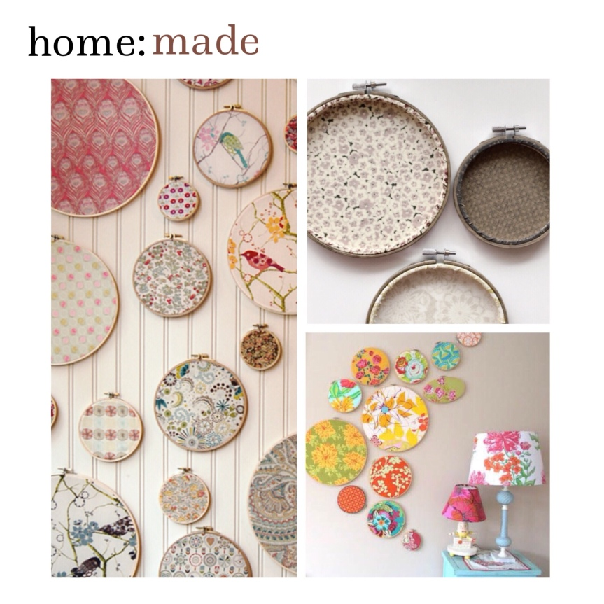 home: made [ embroidery hoop art ]