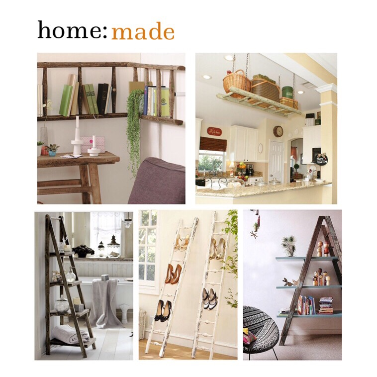 home: made [ ladder shelving ]