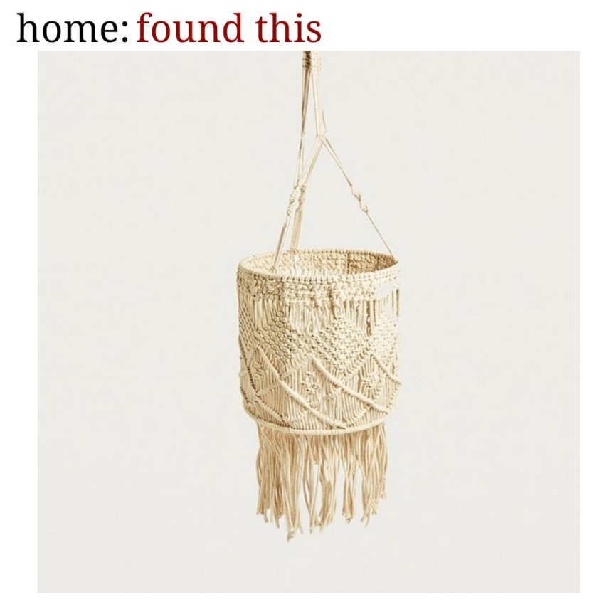 home: found this [ macrame light ]