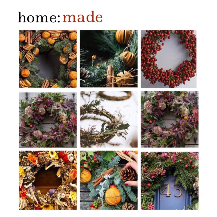 home: made [ Christmas wreaths ]