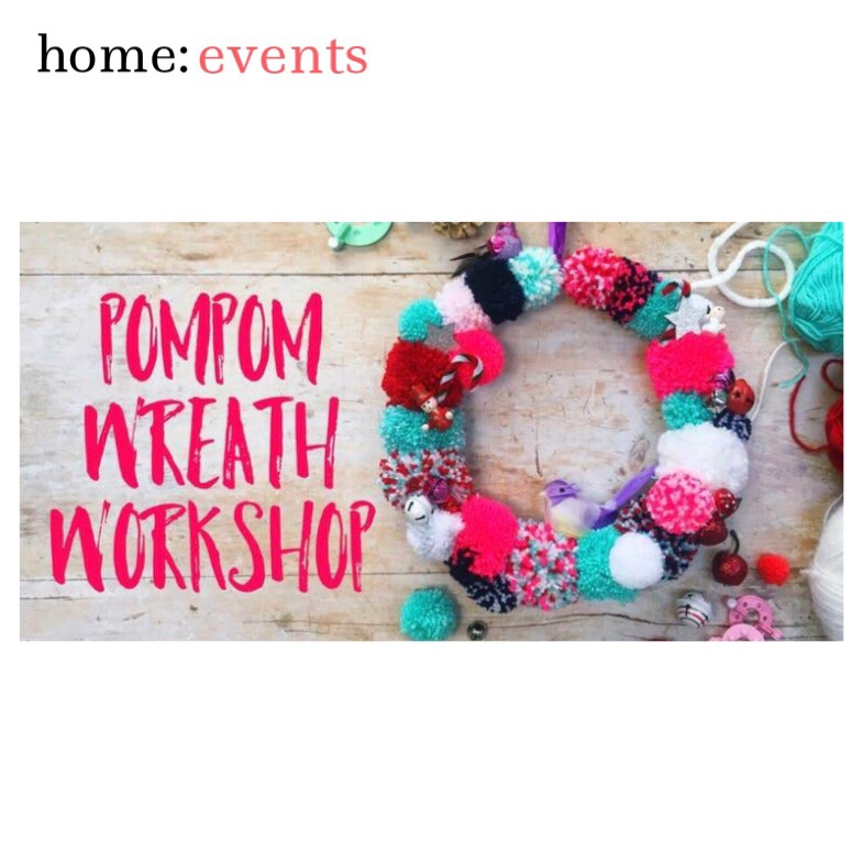 home: event [ Pompom wreath making ]
