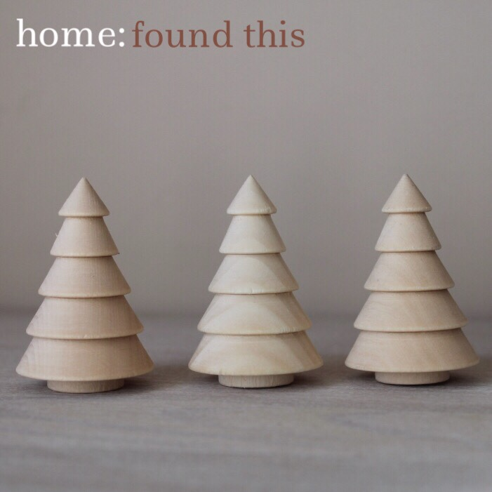 home: found this [ wooden trees ]