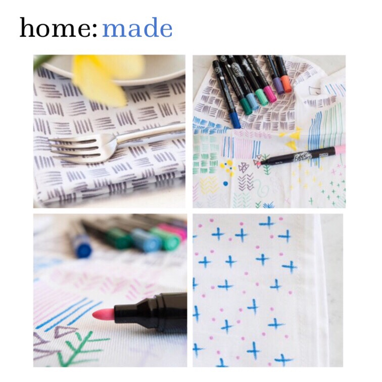 home: made [ napkins ]