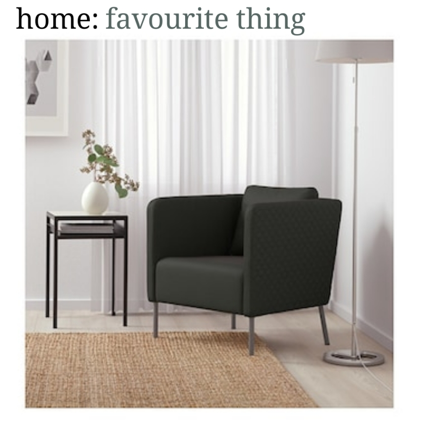 home: favourite thing [ armchair ]
