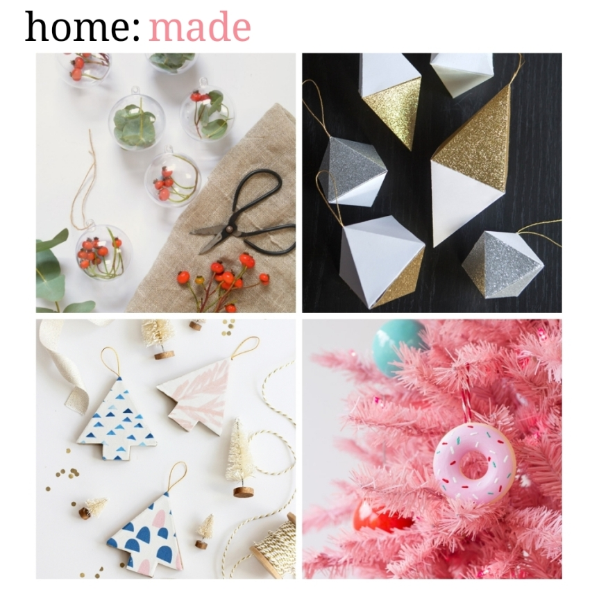 home: made [ Christmas tree decorations]