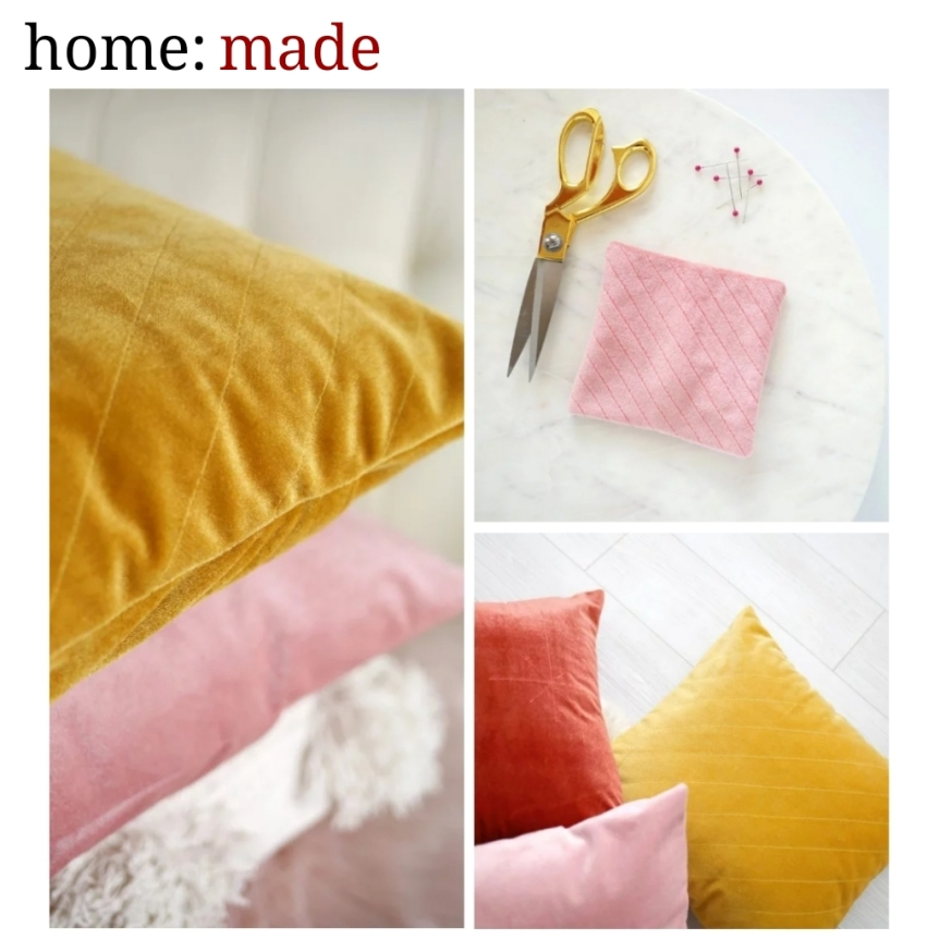 home: made [ quilted cushion ]