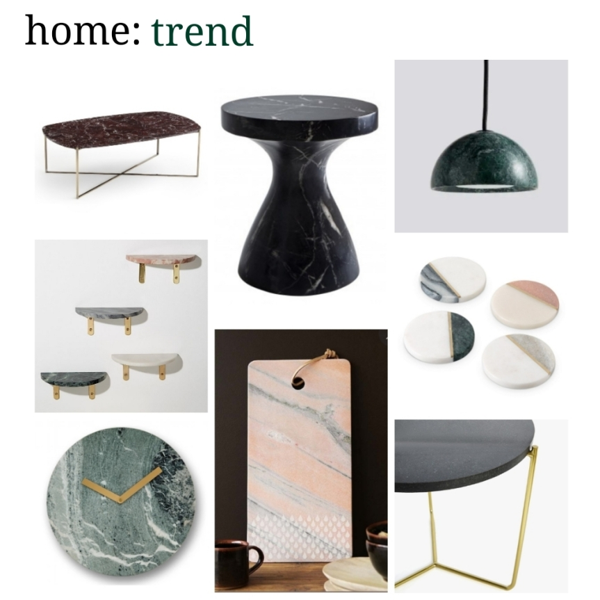 home: trend [ coloured marble]