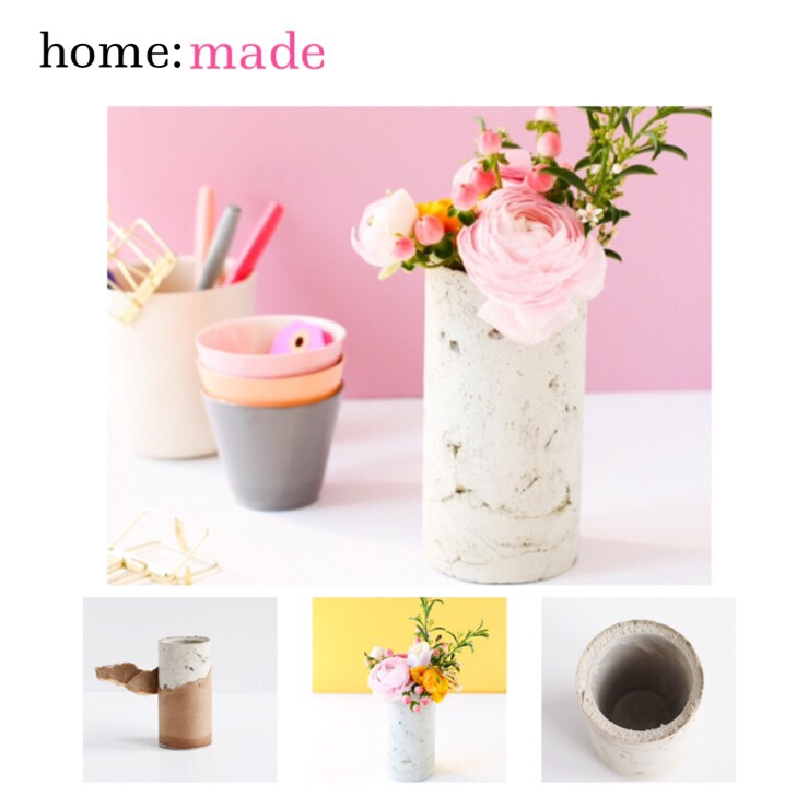 home: made [ concrete vase ]