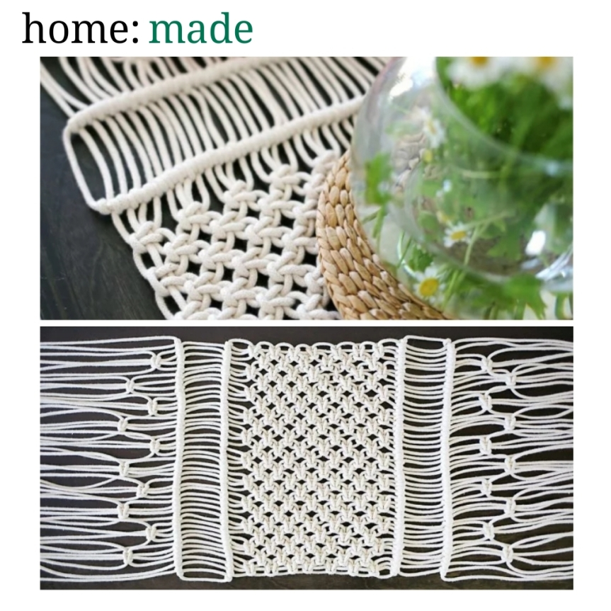 home: made [ macrame table runner ]