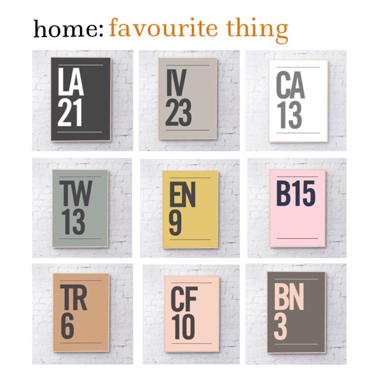 home: favourite thing [ postcode prints ]