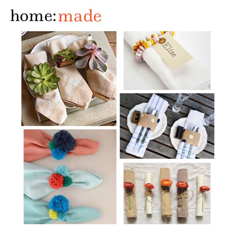 home: made [ napkin rings ]