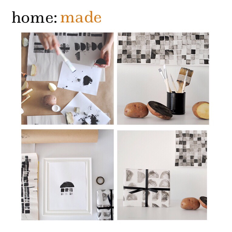 home: made [ potato printing ]