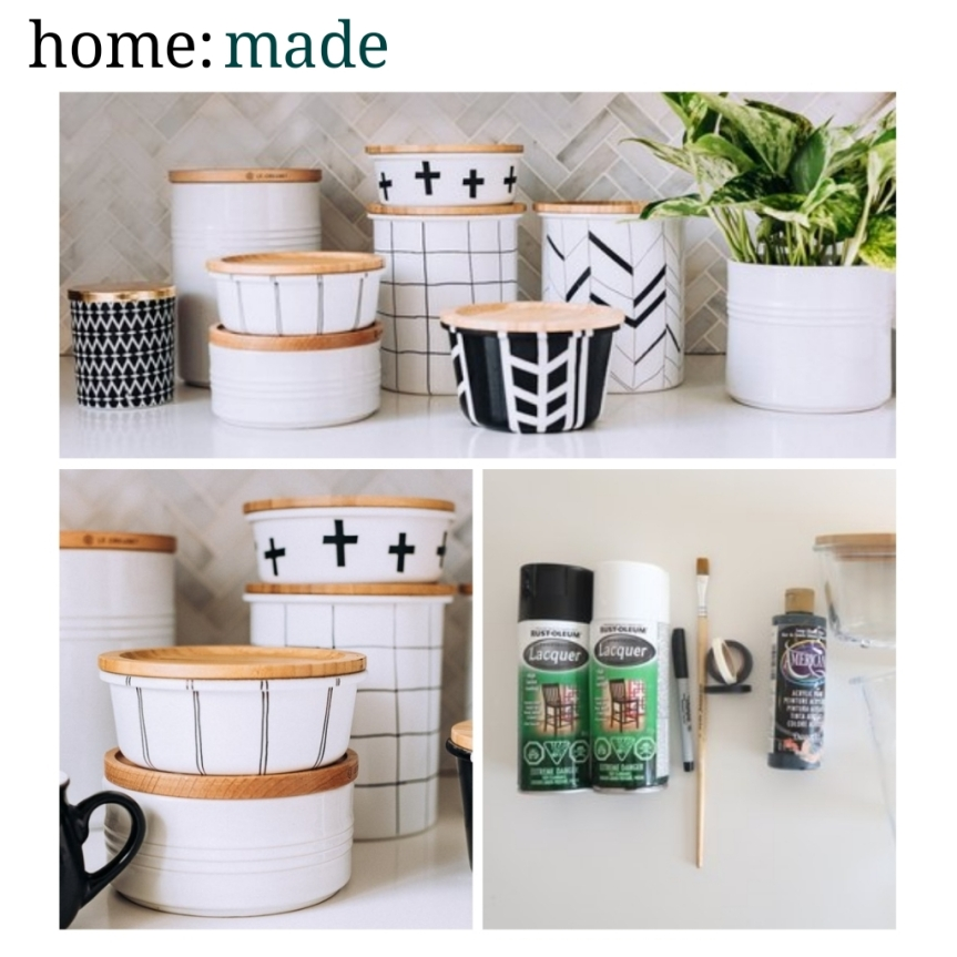 home: made [ painted glass jars ]