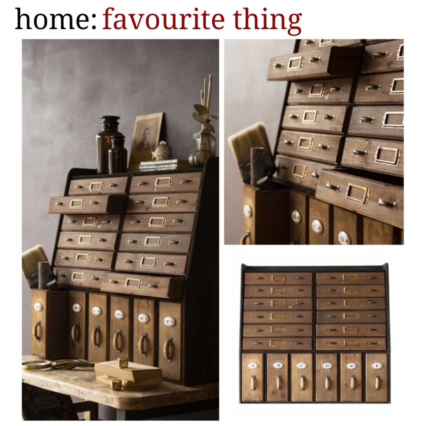 home: favourite thing [ apothecary cabinet ]