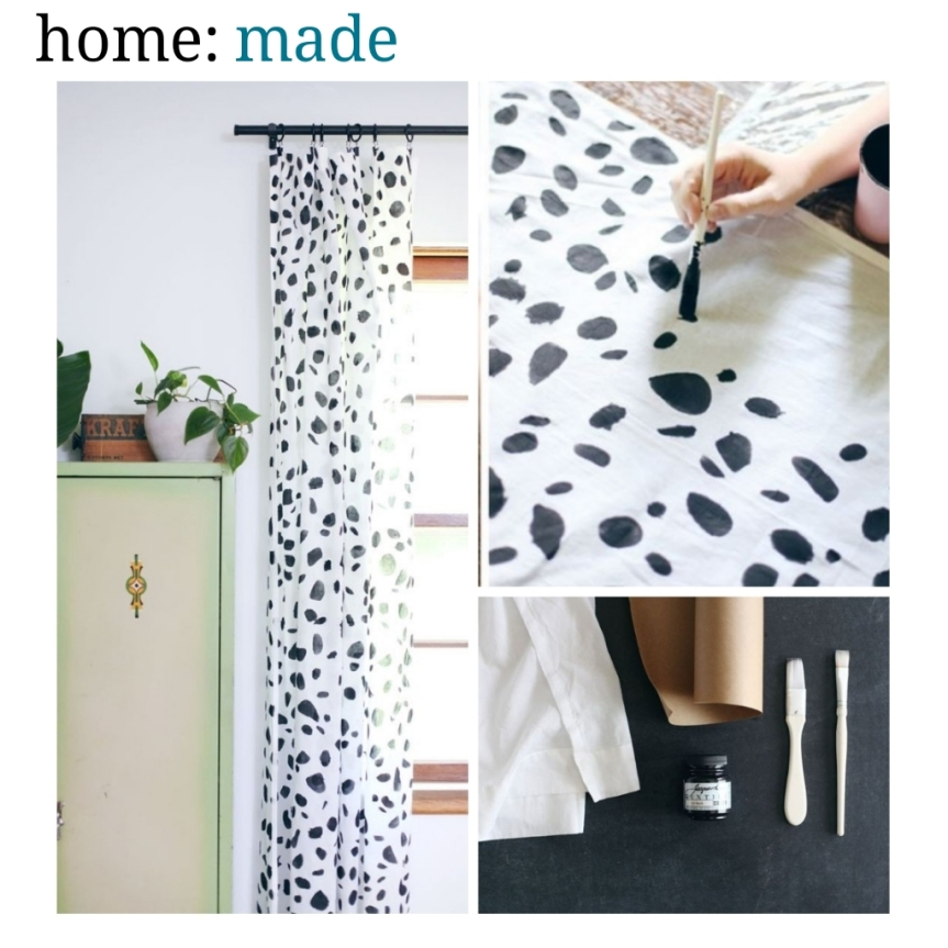 home: made [ printed curtains ]