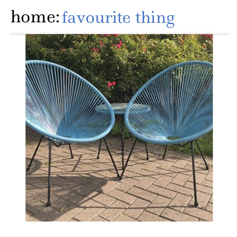 home: favourite thing [ garden furniture ]