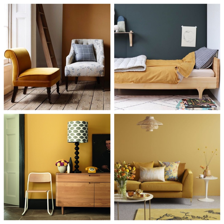 Crown Kitchen Bathroom Paint In Olive Press Green And: Home: Trend [ Mustard ]