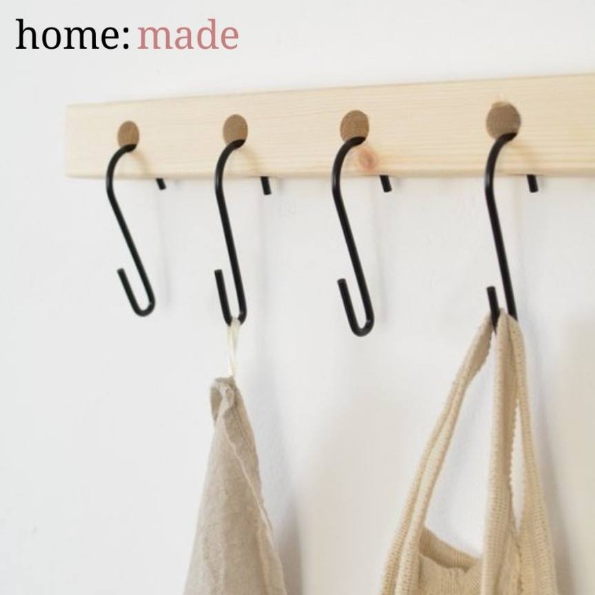 home: made [ S-hook shelf]