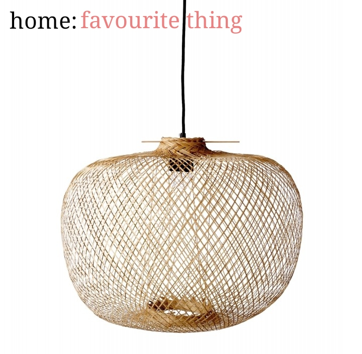 home: favourite thing [ bamboo pendant]