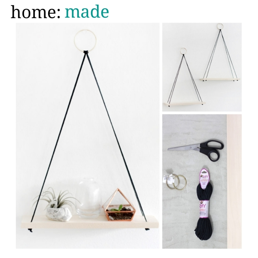home: made [ hanging shelves ]