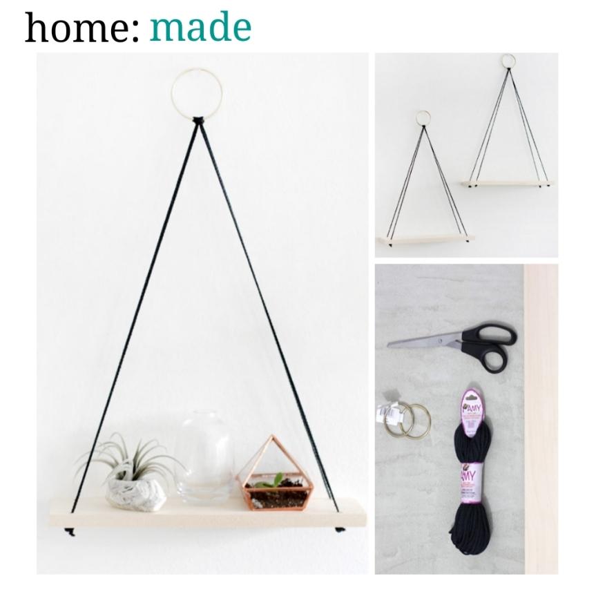 home: made [ hanging shelves]