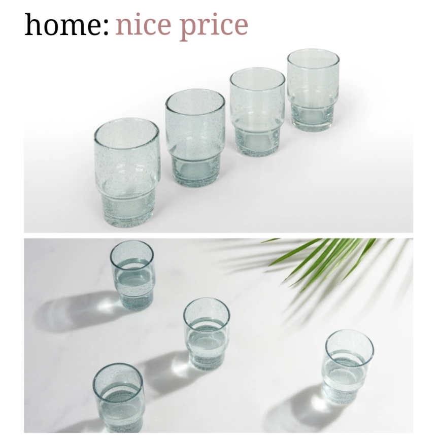 home: nice price [ glass tumblers ]