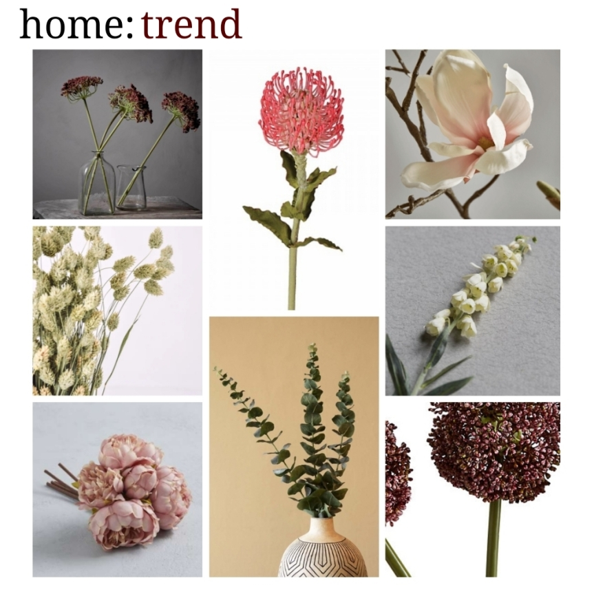 home: trend [ faux flowers]