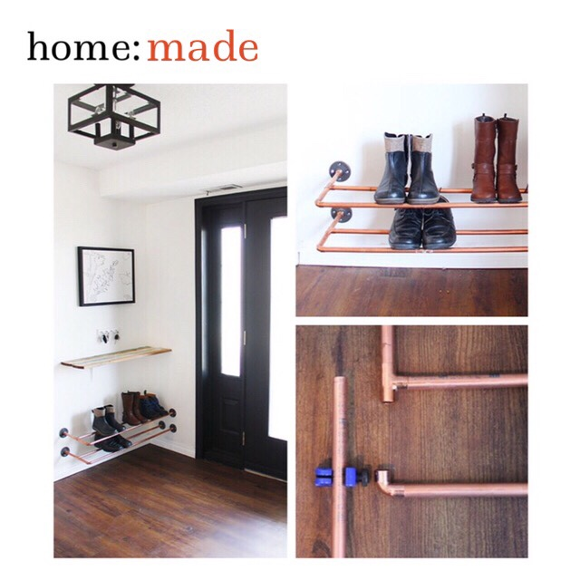 home: made [ copper shoe shelf ]
