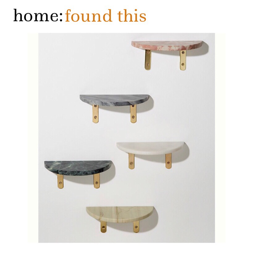 home: found this [ marble shelf ]