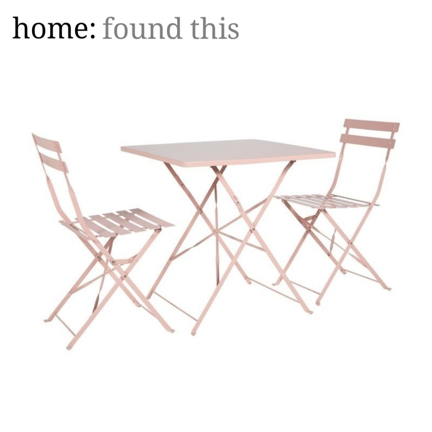 home: found this [ outdoor bistro set ]