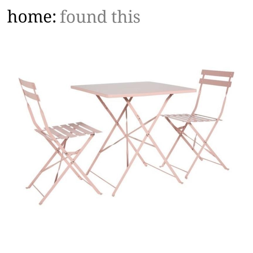 home: found this [ outdoor bistro set]