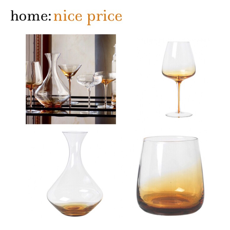 home: nice price [ amber glassware ]
