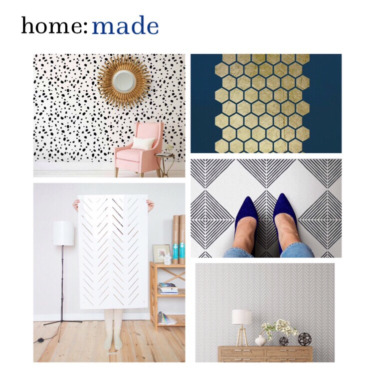 home: made [ stencilled walls ]