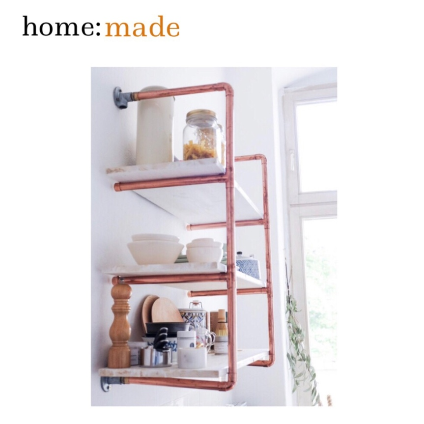 home: made [ copper shelving ]