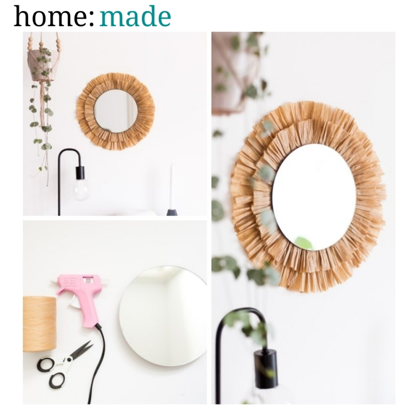 home: made [ raffia mirror ]