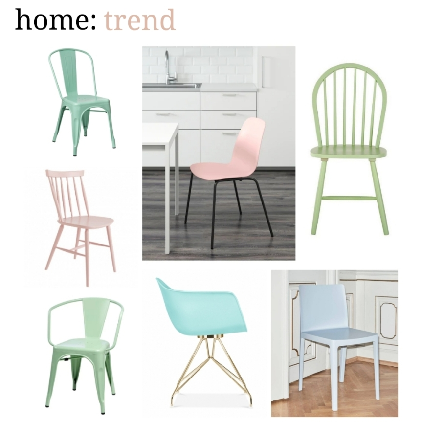 home: trend [ pastel dining chairs]