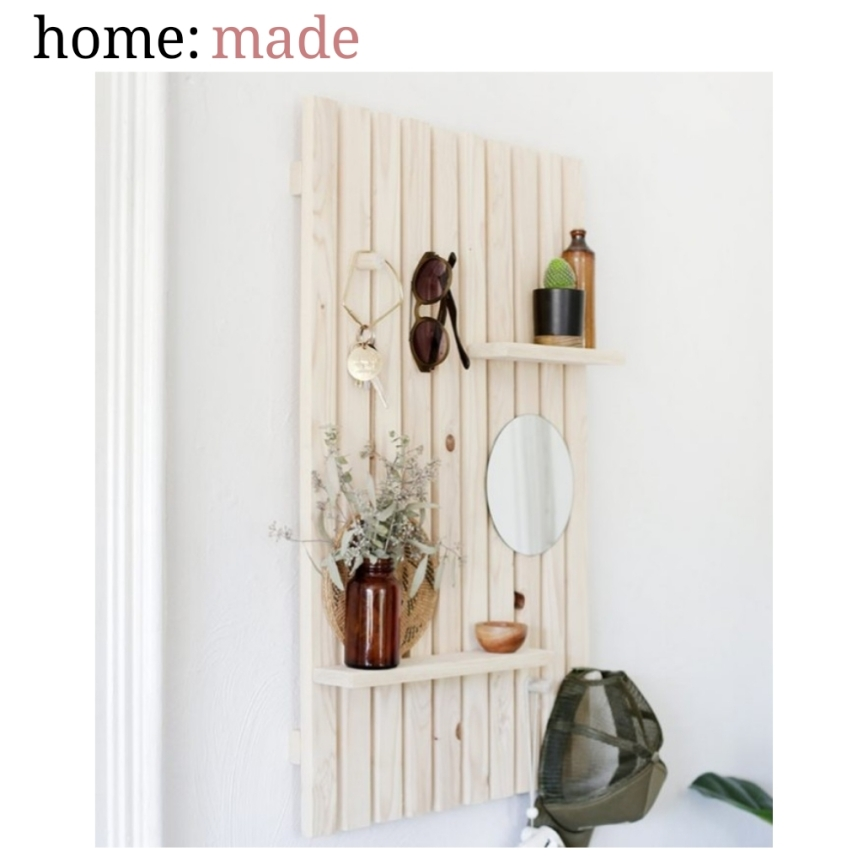 home: made [ slat wall shelf ]