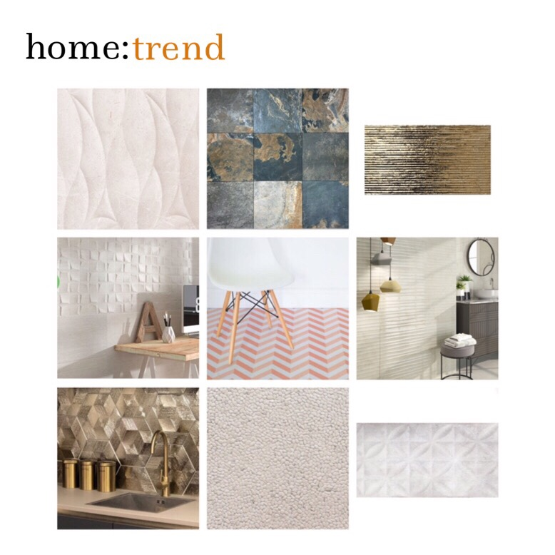 home: trend [ textured and 3D tiling ]
