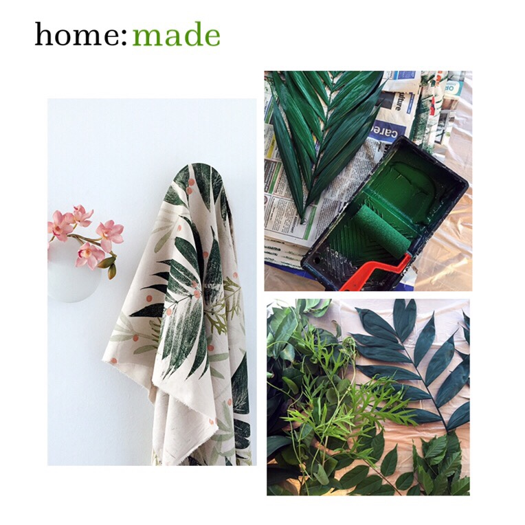 home: made [ printing with leaves ]