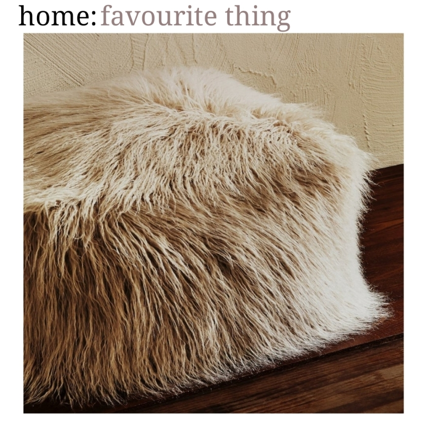 home: favourite thing [ faux fur pouffe ]