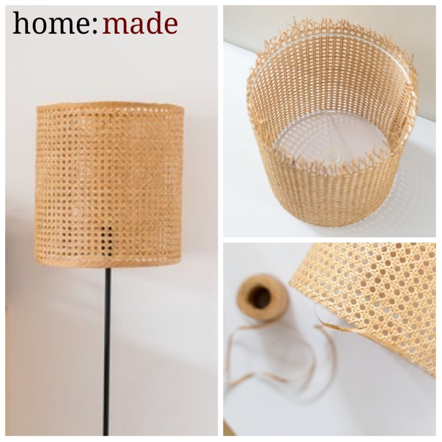 home: made [ cane lampshade ]