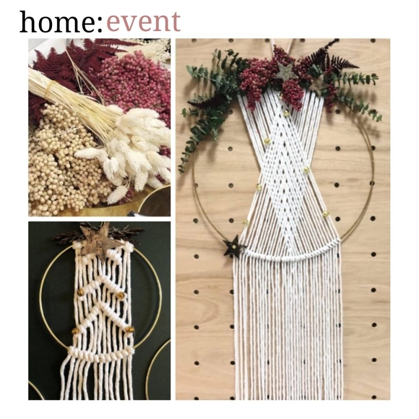 home: event [ Macrame Christmas Wreath ]