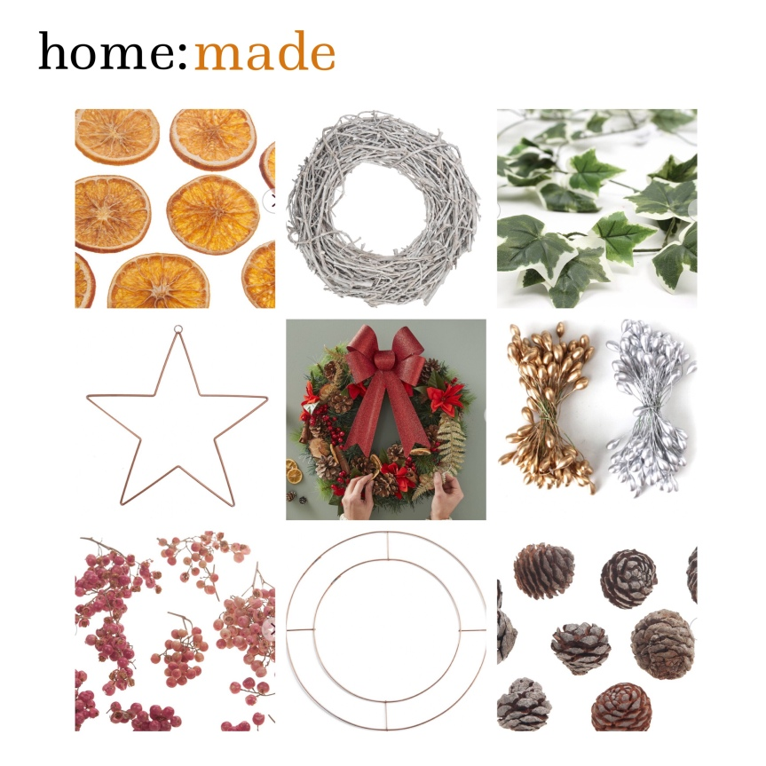 home: made [ Christmas wreath making ]