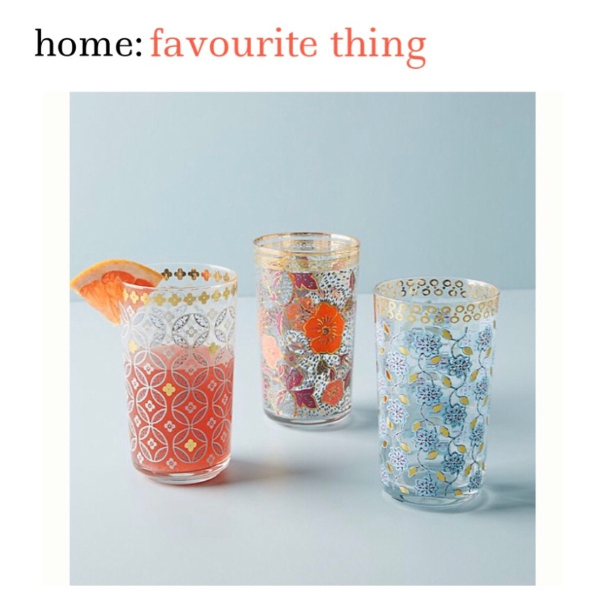 home: favourite thing [ decorative glasses ]