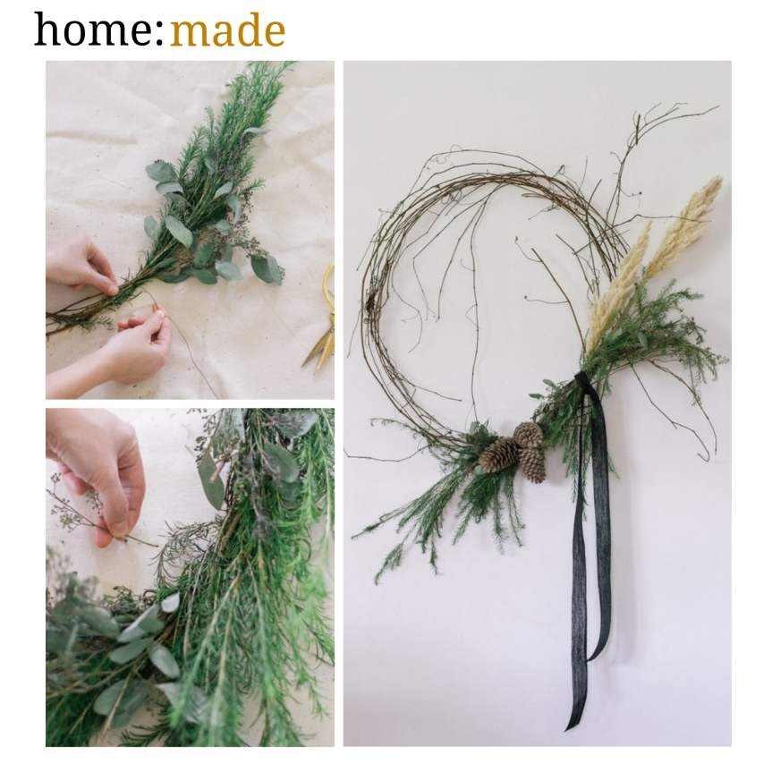 home: made [ grapevine wreath ]