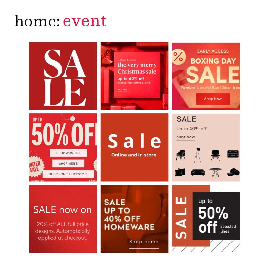 home: event [ Christmas sales ]