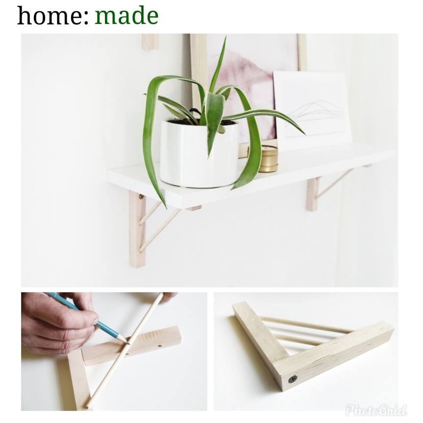 home: made [ shelf bracket ]