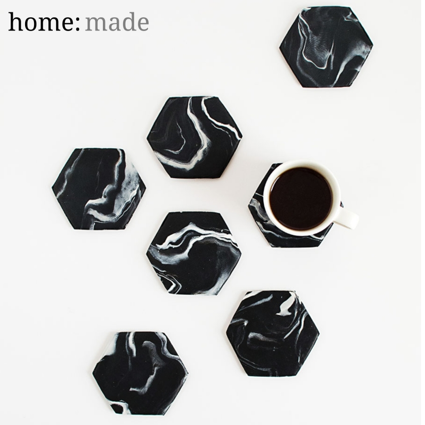home: made [ marble coasters ]