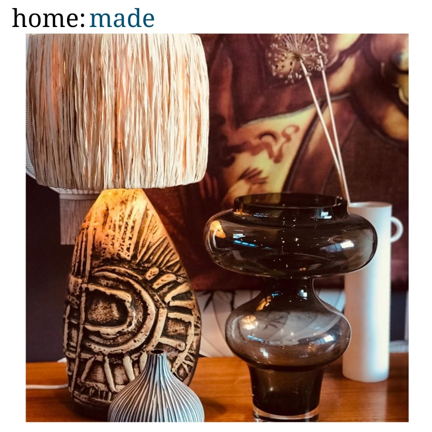 home: made [ raffia lampshade ]