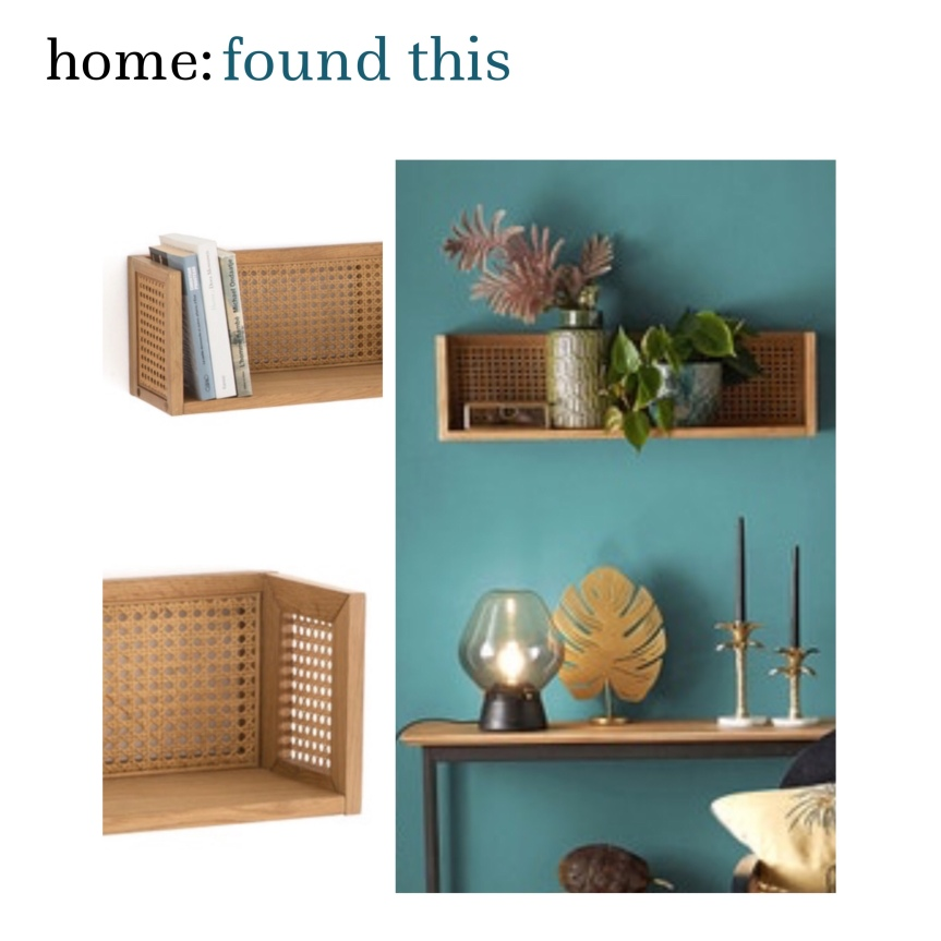 home: found this [ rattan shelf ]